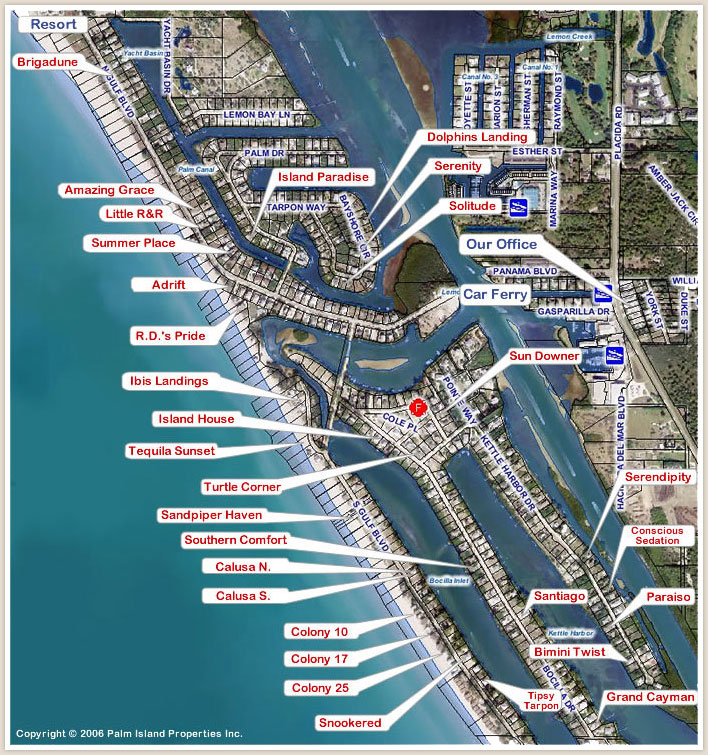Palm Island Florida Map Palm Island Florida   Boca Grande Palm Island Florida Map